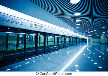 subway station of shanghai chianmodern building concept