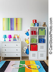 Baby room with toys - Colorful modern baby room with toys,...