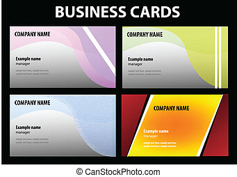 vector visit cards template