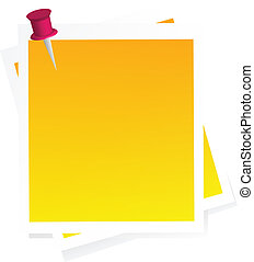 Vector post-it - vector post-it isolated over white...