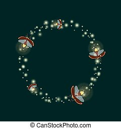firefly circle template - Firefly bugs design template....