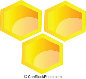 vector honeycomb illustration isolated over white