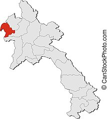 Map - Laos, Bokeo - Map of Laos with the provinces, Bokeo is...