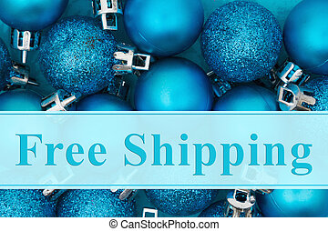 Free Shipping message, Some bright blue sparkle and matte...