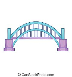 Sydney Harbour bridge icon, cartoon style