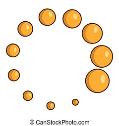 Click circle icon, cartoon style - Click circle icon....