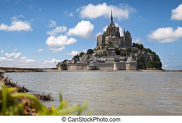 Le Mont Saint Michel in the region of Basse Normandie