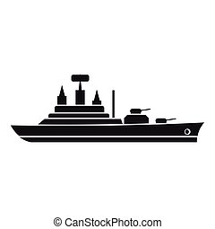 Warship icon, simple style - Warship icon. Simple...