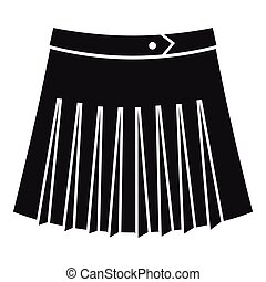 Tennis female skirt icon, simple style