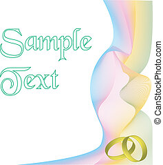 Card with swirls and rings vector - Card with swirls and...