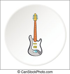 Electric guitar icon, cartoon style - Electric guitar icon....