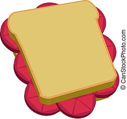 Tomato sandwich vector - Tomato sandwich illustration vector...