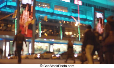 motion of colourful diffused blurred and defocused twinkling...