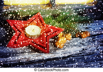 Decoration for Christmas, greeting card