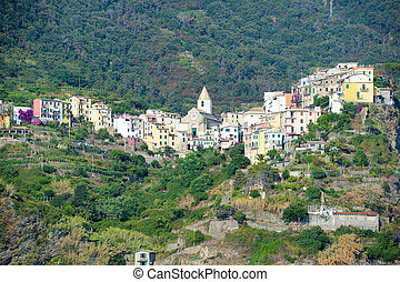 The village of Corniglia in Cinque Terre