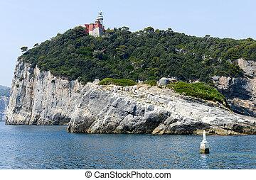 Island of tino near Portovenere - island of tino near...