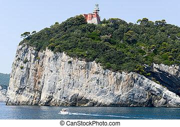 Island of tino near Portovenere, Italy - Tino island...