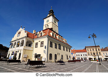Council Square of Brasov, in Transylvania, Romania - The...
