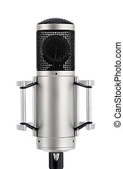 Classy microphone on white