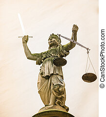 Lady Justice - Sculpture of Lady Justice (Justitia) from...