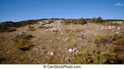 Aerial, Farmland, Nikovici, Crna Gora, Montenegro. Graded...