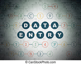 Data concept: Data Entry on Digital Data Paper background -...