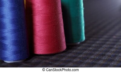 Spools of thread. Multi-colored thread. The ability to...