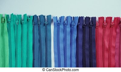 Do not sewn zipper. Accessories for clothes. - Zips for...