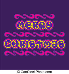 merry christmas poster design - creative typography of merry...