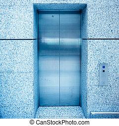 door of elevator - modern door of the elevator in shanghai...