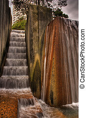 Water Fountain - Water Fountain located in downtown Portland...