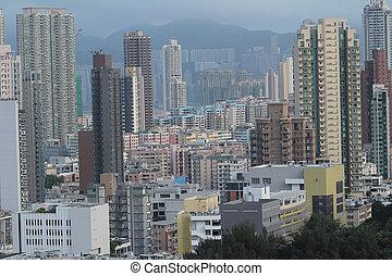 at Checker board Hill view of hk - the Checker board Hill...