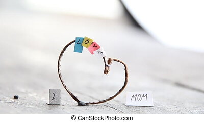 I Love Mom text, happy mothers day idea. - I Love Mom, happy...