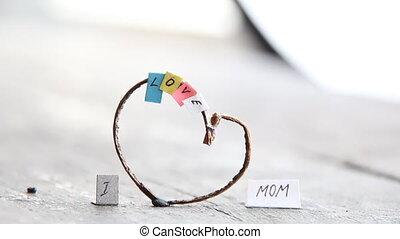 I Love Mom text, happy mothers day idea. - I Love Mom, happy...
