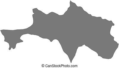 Map - Bolikhamsai (Laos) - Map of Bolikhamsai, a province of...