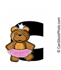 Alphabet Ballerina Princess C - The letter C, in the...