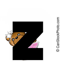 Alphabet Ballerina Princess Z - The letter Z, in the...