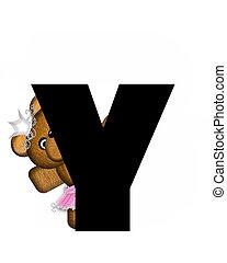 Alphabet Ballerina Princess Y - The letter Y, in the...