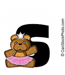 Alphabet Ballerina Princess S - The letter S, in the...