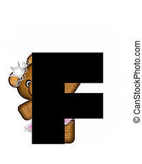 Alphabet Ballerina Princess F - The letter F, in the...