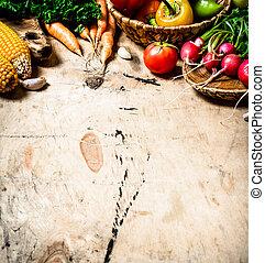 健康, 有机, 蔬菜, 食物