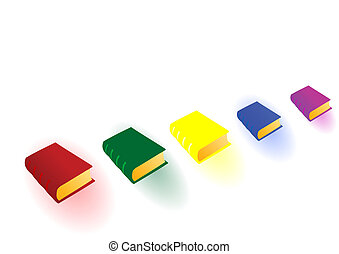 Vector illustration the color big books