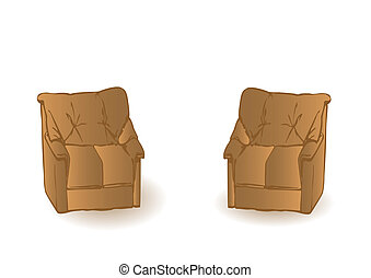 The vector leathe braun sofa