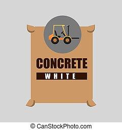 excavator machine concrete graphic vector illustration eps...