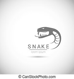 vector snake simple black logo design element. danger snake...