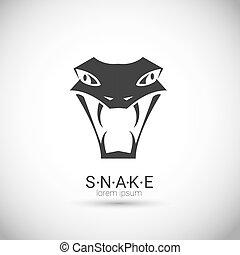 vector snake simple black logo design element. danger snake...