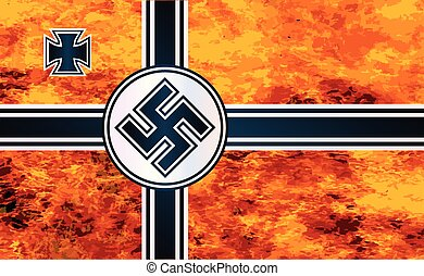 Nazi Swastika Flag - The Nazi flag as used in World War Two...