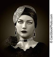 Gloria 2.0, 3d CG - 3d computer graphics of a portrait of a...