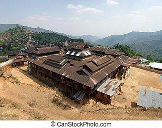 Mountain village, Shan state, Myanmar