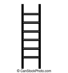3D Ladder - 3d ladder isolated in white